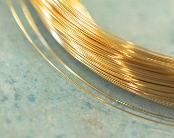 """10 feet 14k gold filled soft round wire 28GA (0.012"""")"""