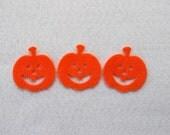 20 Piece Die Cut Felt Jack-O-Lanterns
