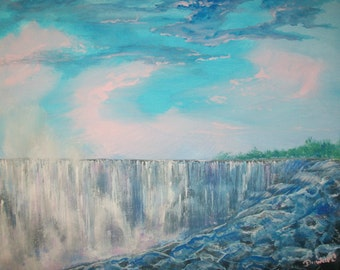 Niagara Falls 16x20 canvas painting