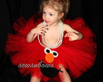 Elmo tutu -- Elmo Halloween-- Elmo dress up -- Elmo birthday-- Elmo dress-- Elmo tutu dress