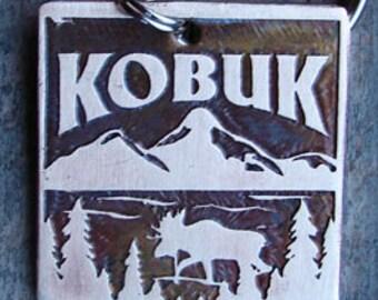Moose Mountain Pet Tag, Dog ID Tag, Dog Tag - 1.25 inch Square