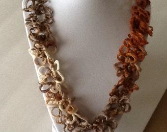 Spring Summer Handmade Crochet Necklace