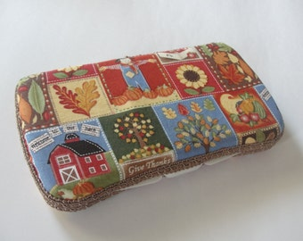 Baby Wipes Case, Travel Wipes Case With Fall Thanksgiving Print