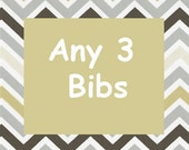 Bandana Bib - Money Saving Mix and Match Set of 3 Bibs
