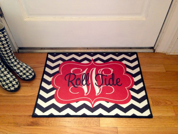 Items Similar To Roll Tides Alabama Personalized Door Mat