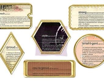 """SALE Prima Frames """"Sunrise Sunset"""" Decorative Frames - Metal Frames & Paper Inserts - 7 pcs"""