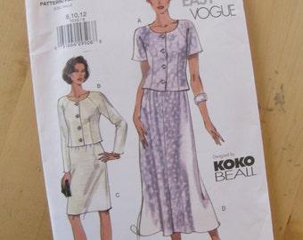 Uncut Vogue Sewing Pattern 7015 - Misses Petite Top & Skirt - Size 8-12