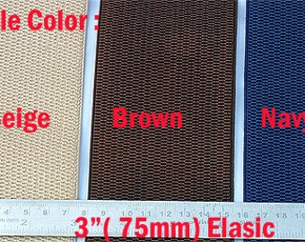 3 inch 75 mm wide waist stretch waistband elastic for belt craft sewing towel x 1 Meter
