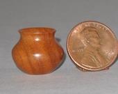 Peroba Rosa Turned Wood Miniature Vase