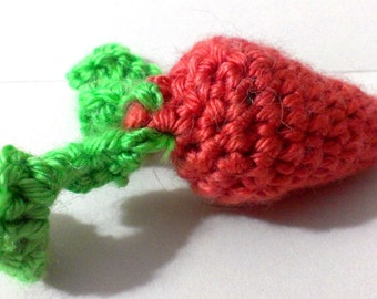 Carrot Cat toy with your choice of Filling, catnip bell crinkly