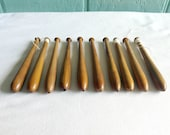 10 Vintage wooden lace bobbins for lace making