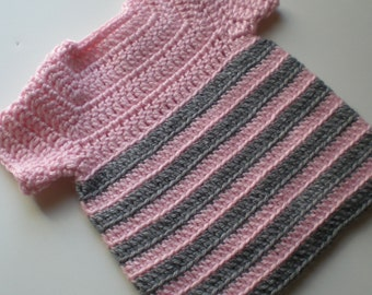 Pink and Gray Top for Baby Girls