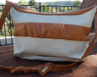 BIG Vintage I Santi Made in ITALY leather purse bag SLOUCHY hobo cross body