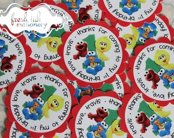 Baby Sesame Street First Birthday Personalized Stickers