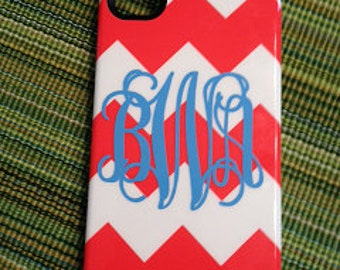 Set of 3 Personalized Cell Phone Monogram Decals