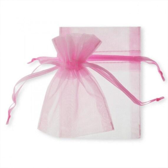 Sheer Wedding Favor Bags Bulk : Wedding Favors Organza Bags Bulk 100 Pink Sheer Bridal Baby Shower ...