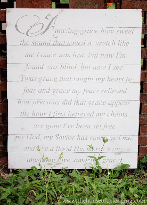 Amazing Grace - Wood Sign
