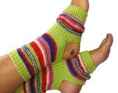Hand Knit Yoga Socks, Pilates Socks, PiYo Socks, Dance Socks, Pedicure Socks, Flip-flop Socks, Boho Socks, Hipster Socks - MADE to ORDER