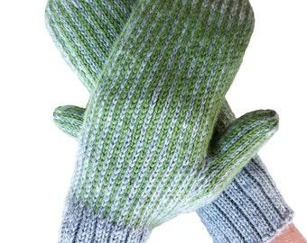 Mittens, Hand Knit Wool Mittens, Gift,  Women, Men, Handknit Mittens, Hand Knit Gloves, Boho Mitts, Hipster Mittens, Bohemian Mittens