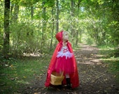 ON SALE!! Little Red Riding Hood Costume Cape Included!