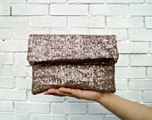 Old Gold sequin foldover clutch, Vegan Clutch,Minimalist and glamorous.Bridesmaid clutch, weeding clutch.