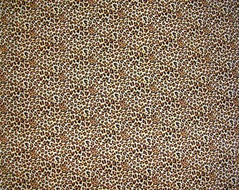 Small Leopard Print Timeless Treasures Fabric by the yard