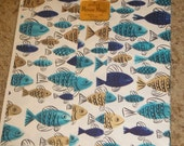 Vintage 1960s Hallmark Marine Magic Wrapping Paper New Old Stock Fish Design Mid-Century Modern Design 2 Sheets 20X30