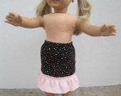 Long ruffle skirt for doll