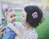 Matching Hair Set, Headband & Clip: Mother Daughter, Sisters, Newborn to Adult, Perfect Gift, PLUS, All Proceeds go to kids' college fund