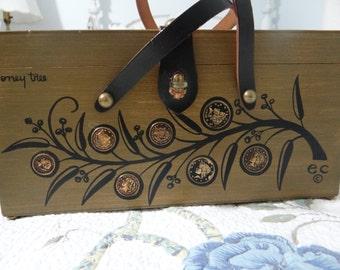 Enid Collins Money Tree Box Handbag