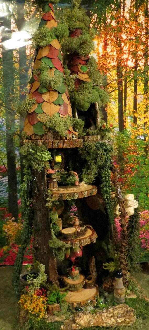 Fairy House Woodland Fairy Townhouse Fairy By
