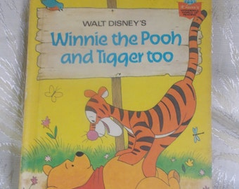 "Vintage Children's Book ""Walt Disney's Winnie the Pooh and Tigger Too"""