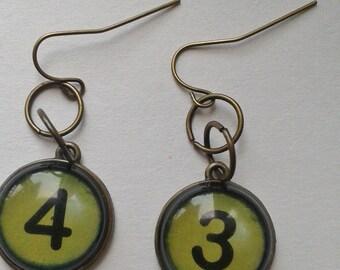 """Fun """"Number"""" earrings"""