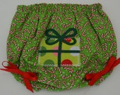 Christmas Diaper Cover with Gift Applique - Debsflorals
