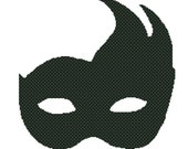 Green and Black Venetian Mask Cross Stitch Kit