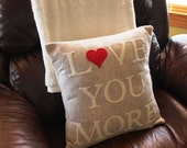 Love You More Appliqued Pillow Cover-Made to Order