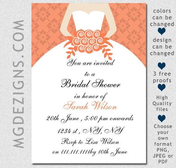 Printable Bridal Shower Invitation Template Modern Bridal Shower