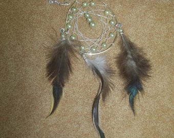 tear drop dream catcher necklace