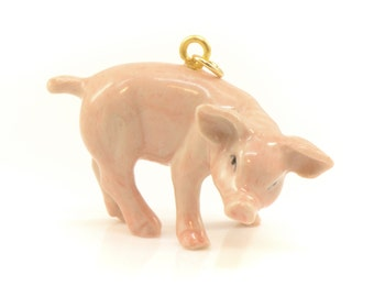 Vintage Ceramic Pig Etsy