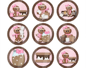 One Inch Digital Images S'mores Gingerbread Gals
