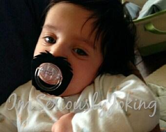 Mustache Pacifier-Baby Goatee-Little Man Party-Mustache Party-Baby Shower gift-Baby gift-Baby Boy-Little Man-Baby Paicifer-Photo Prop