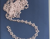 trim of hand crocheted pink cotton