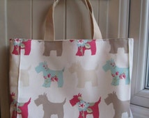 Tote bag small craft bag lunch bag handmade