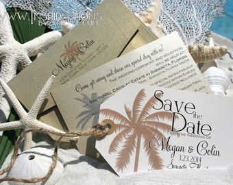 save the date luggage tags, Savethe date, Wedding Invitations