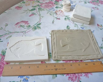 Clay Sprig Queen Anne Fish Tropical Press Mold Relief Mold or Sprig Mold Clay Stamp for Ceramic Decoration and Texture