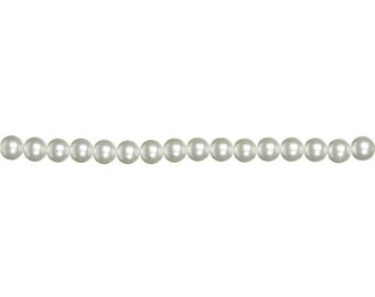 12mm White Glass Pearls (2 Strands)