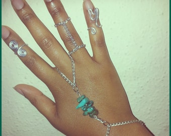 Hand Candy - Handflower Midi Rings Chain Ring