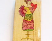 Flapper Girl rubber stamp collage dress form stamp Judis Bliss  made in the USA