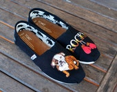 Custom Dog shoes, get your Dog hand painted on any TOMS, Vans or Converse sneakers