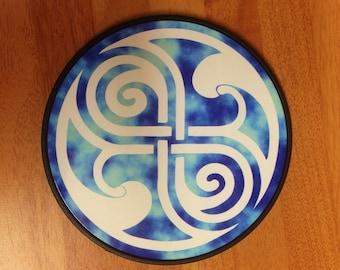 Dr Who Seal of Rassilon design Coaster